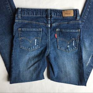 Levi's jeans size 8 girls distressed denim pants